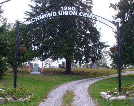 Cemetery Arch at Entrance